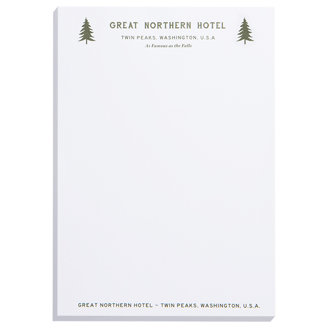 Twin Peaks Great Northern Notepad