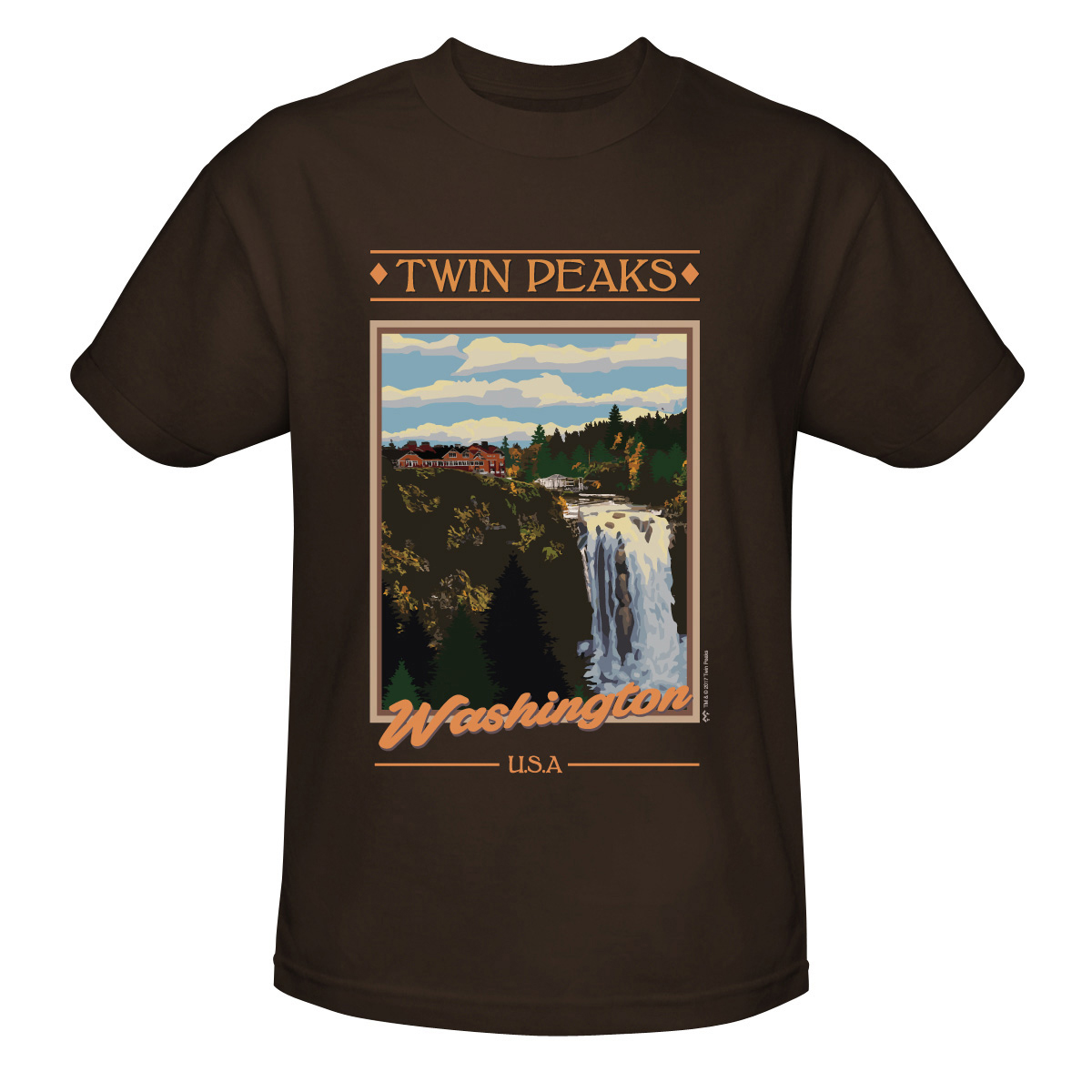 Twin Peaks Vintage Poster Style T-Shirt