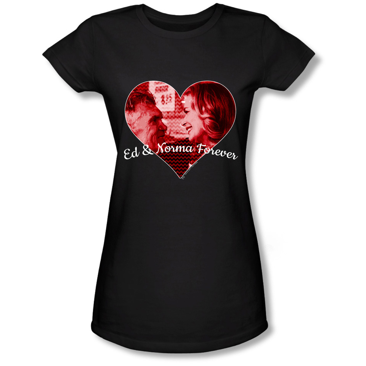Twin Peaks Ed and Norma Women's Slim Fit T-Shirt