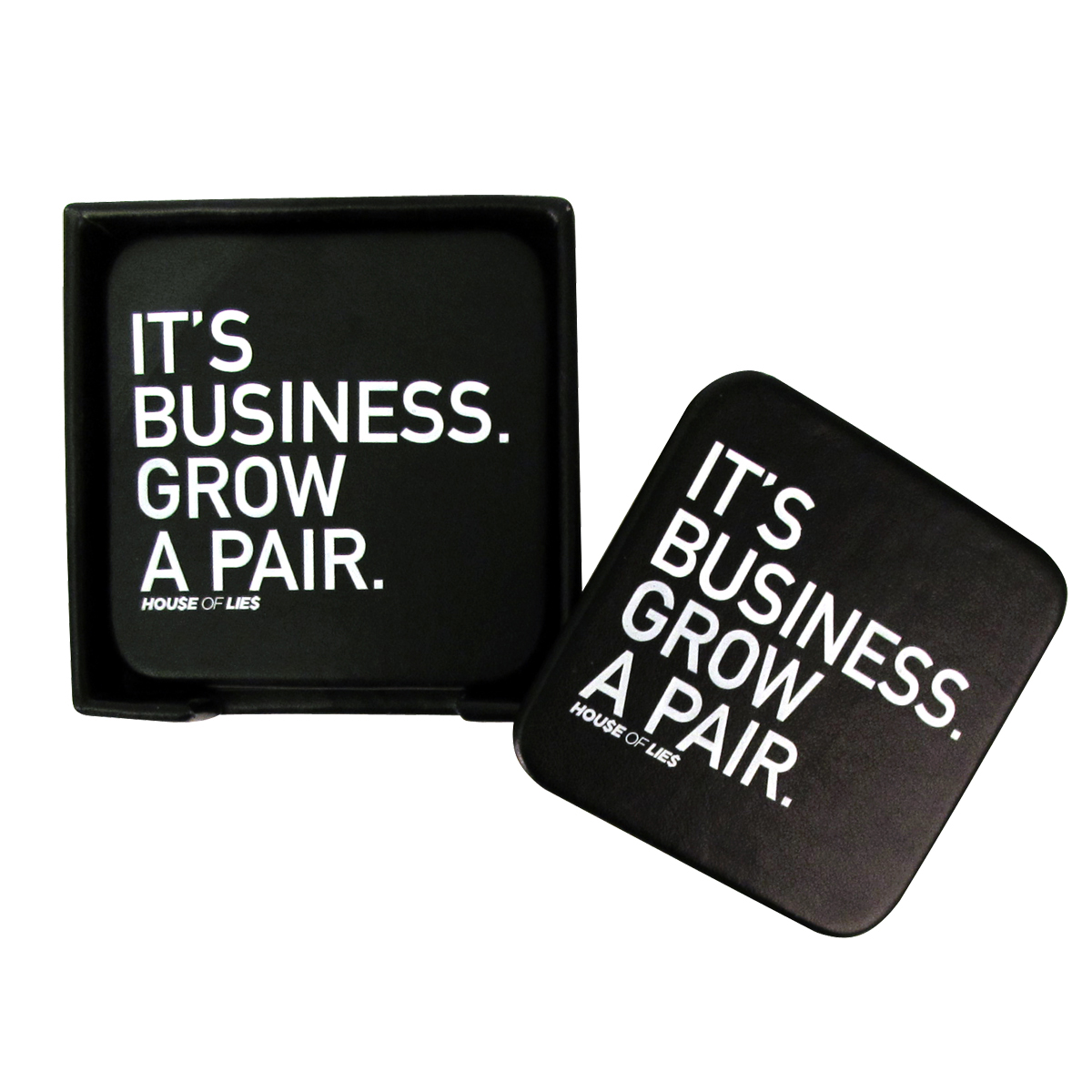House Of Lies It's Business Grow A Pair Coaster Set [Set of 4]