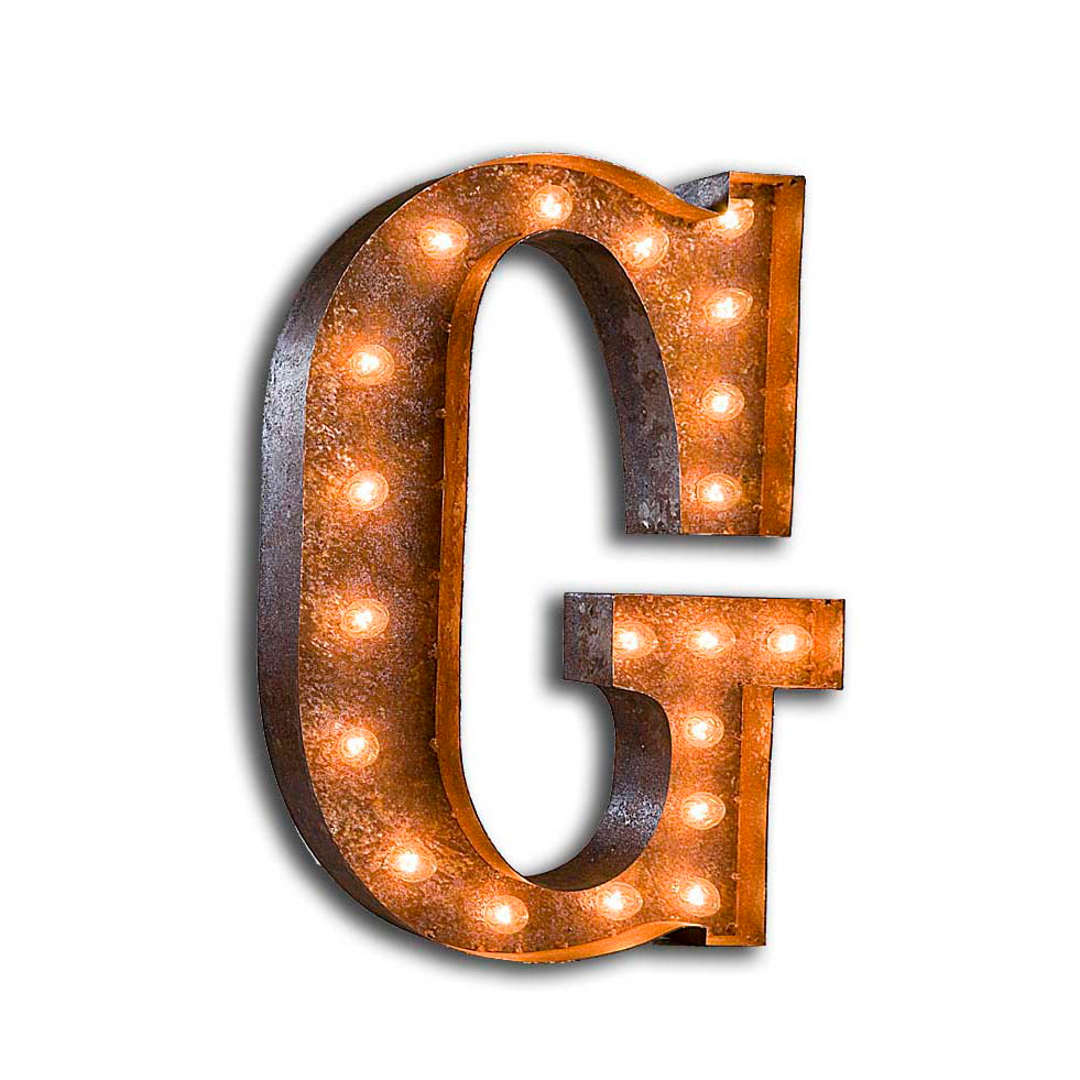 "Vintage Finished ""G"" Marquee Light"