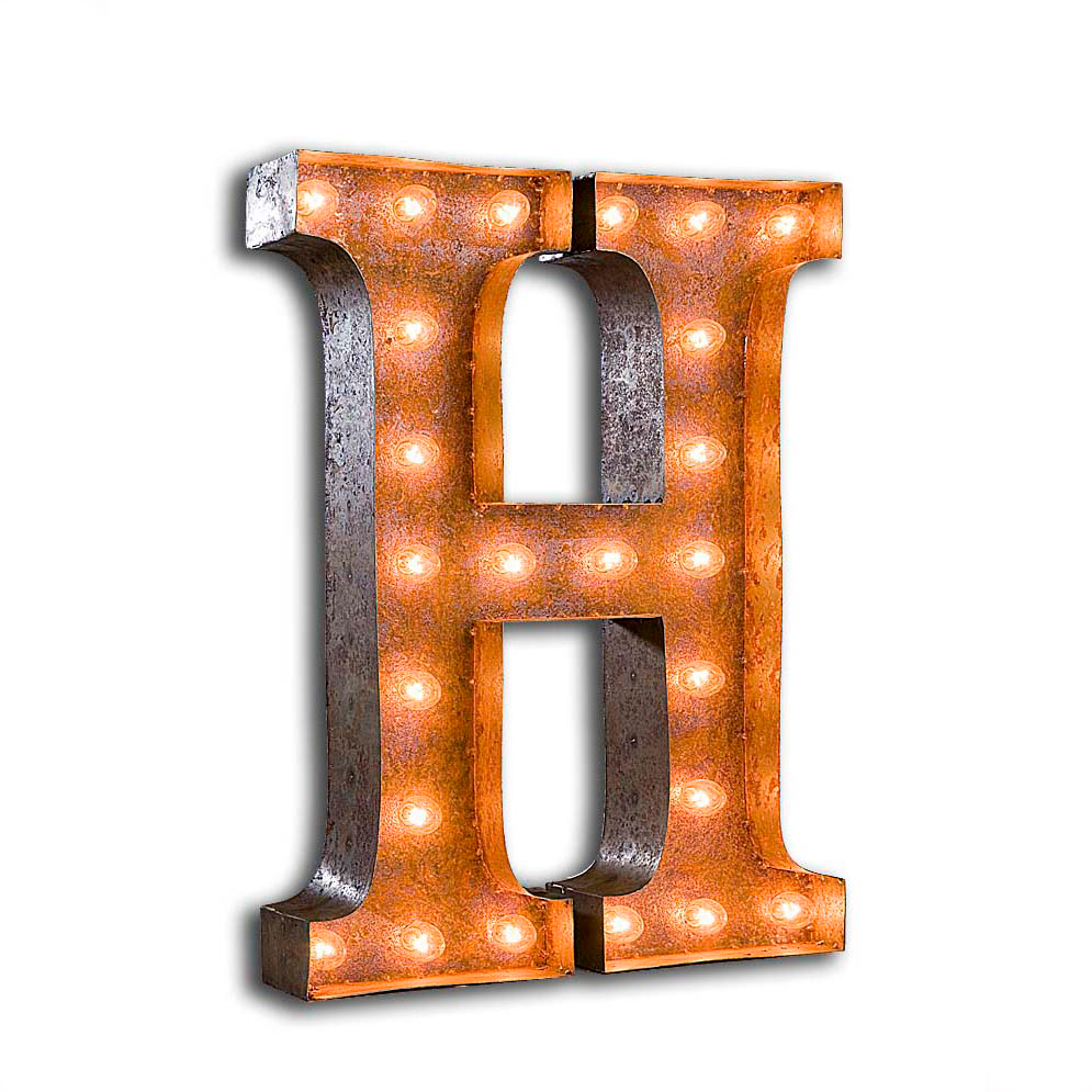 "Vintage Finished ""H"" Marquee Light"