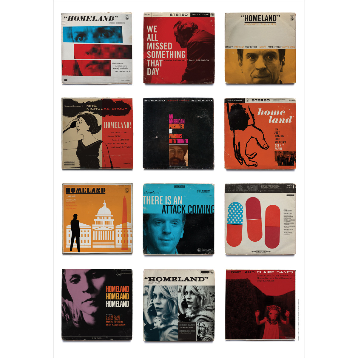 Homeland Vintage Jazz Collector's Edition Lithograph [24x34]