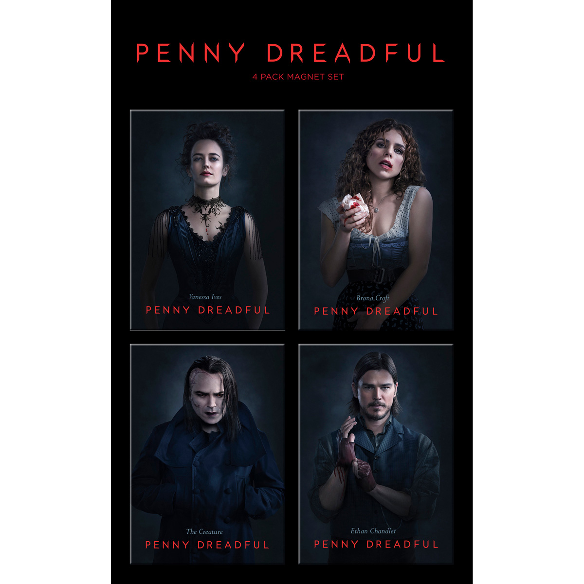 Penny Dreadful Cast Set 1 Magnets [Set of 4]