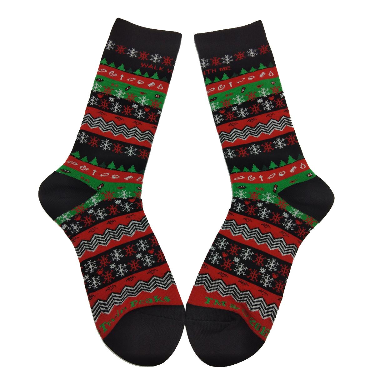 Twin Peaks Fire Walk With Me Knit Socks