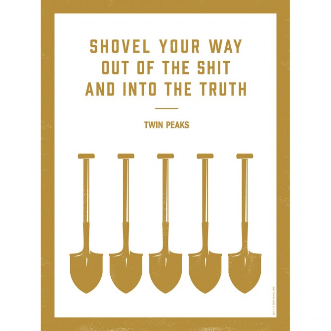 "Twin Peaks Shovel Poster (18""x24"")"