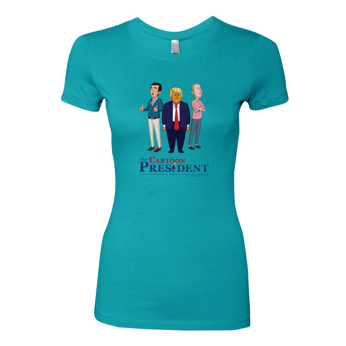 Our Cartoon President Trump and Sons Women's Slim Fit T-Shirt