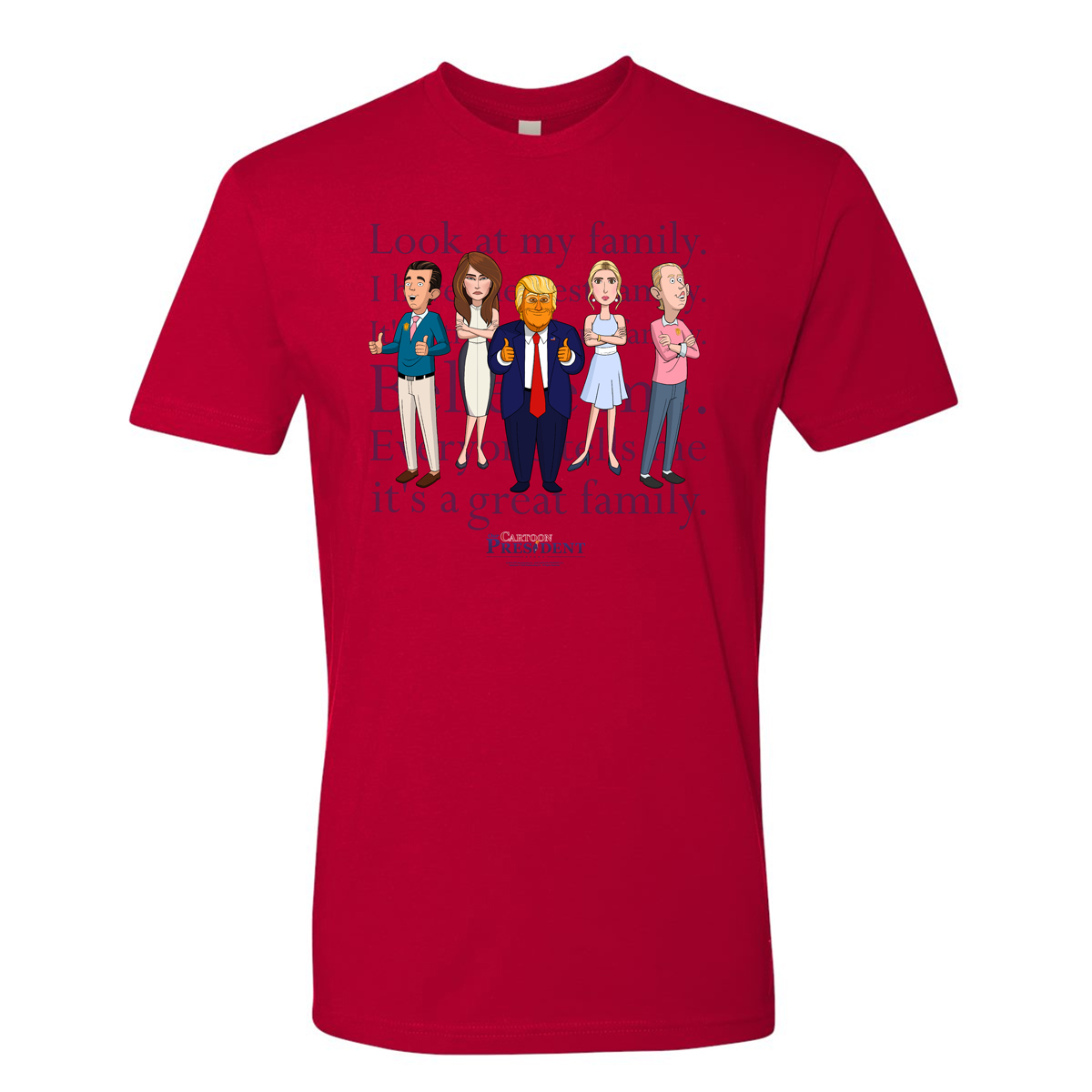 Our Cartoon President Trump Family T-Shirt