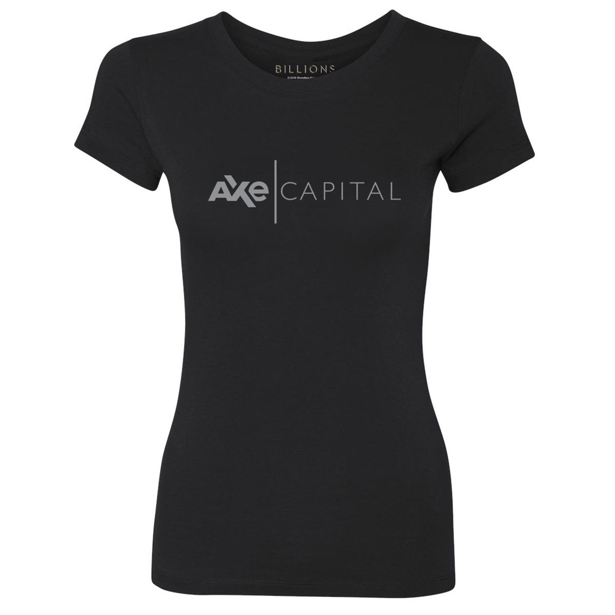 Billions Axe Capital Women's Slim Fit T-Shirt (Black)