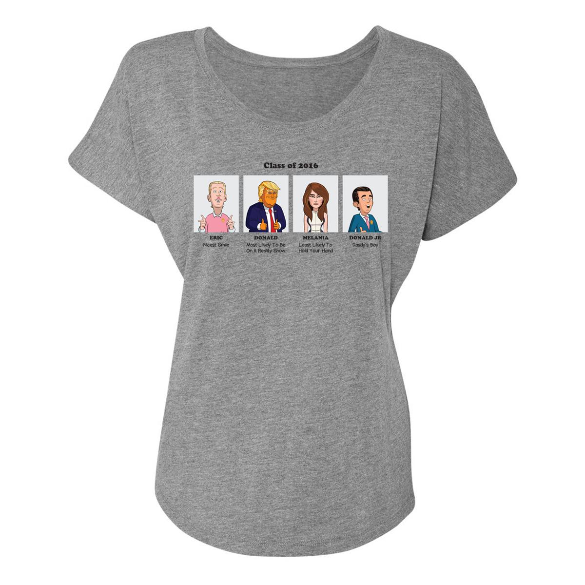 Our Cartoon President Yearbook Superlatives Women's Dolman T-Shirt
