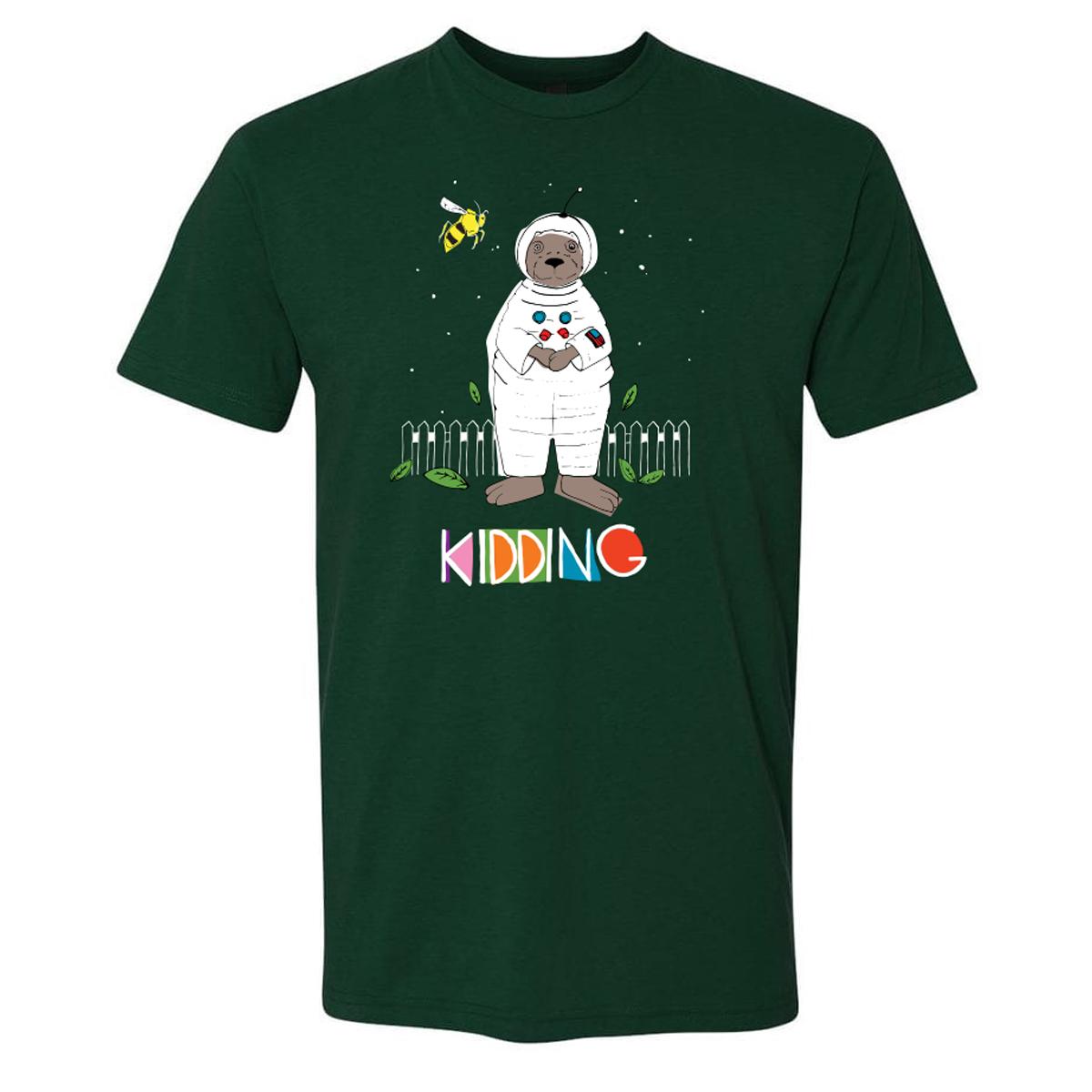 Kidding Astronotter T-Shirt (Forest Green)