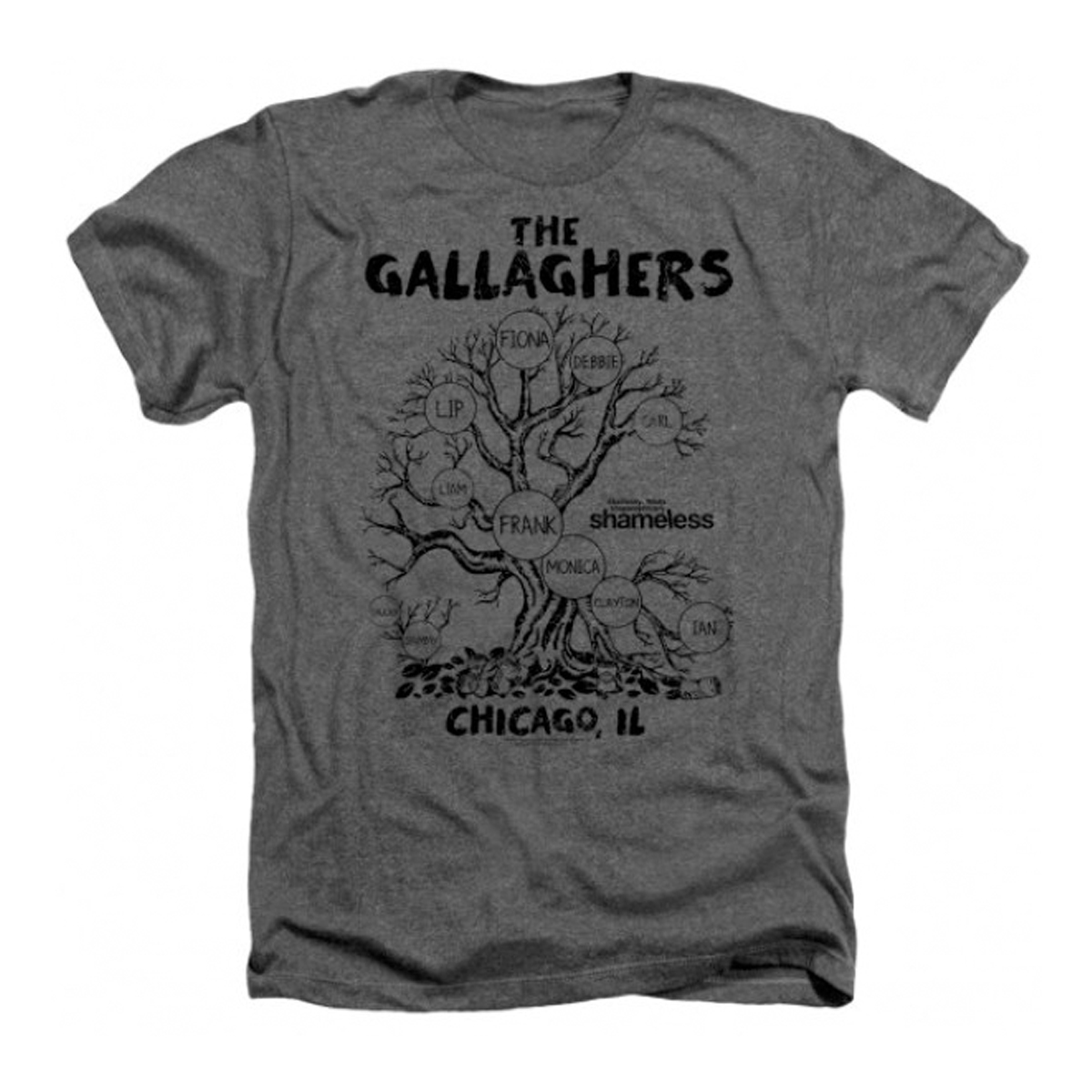 Shameless Gallagher Tree T-Shirt (Charcoal)