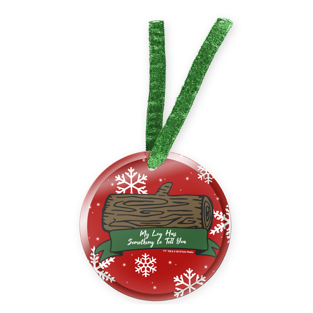 Twin Peaks Log Ornament