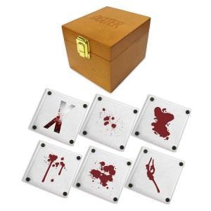 Dexter 10th Anniversary Glass Coasters [Set of 6]