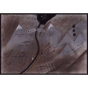 Twin Peaks Map Giclee [16.8 x 24]