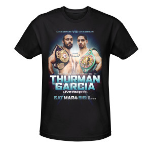 Showtime Boxing Official Thurman vs Garcia T-Shirt [Black]