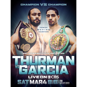 Showtime Boxing Official Thurman vs Garcia Giclee Print [18x24]