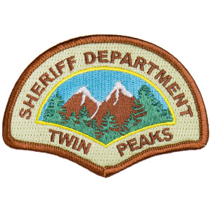Twin Peaks Sheriff's Badge Patch