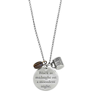 Twin Peaks Sterling & Bronze Damn Good Coffee Necklace