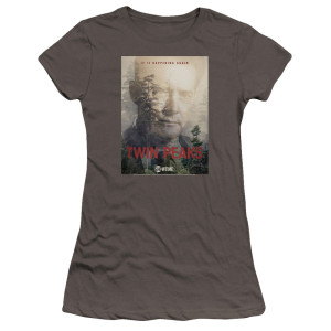 Twin Peaks Agent Cooper It's Happening Again Women's Slim Fit T-Shirt [Charcoal]
