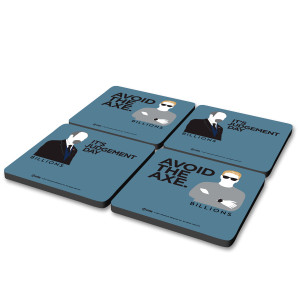 Billions Axe and Rhoades Coaster Set [Set of 4]