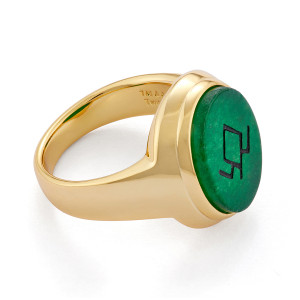 Twin Peaks Gold Plated Sterling Signet Ring