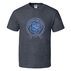 Twin Peaks Blue Rose T-Shirt (Charcoal)