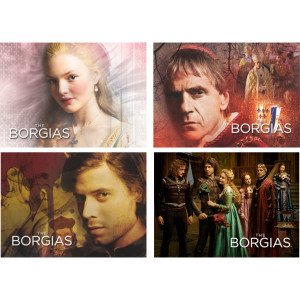 The Borgias 4-Piece Magnet Set