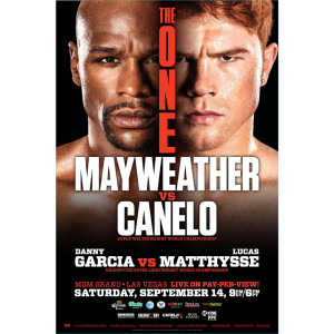 """The One: Mayweather vs. Canelo"" Official Pay-Per-View Poster"