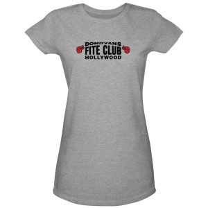 Ray Donovan Fite Club Grey Gloves Women's Junior Fit T-Shirt