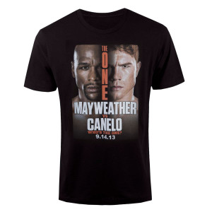 The One: Mayweather vs. Canelo Official Pay-Per-View Poster T-Shirt