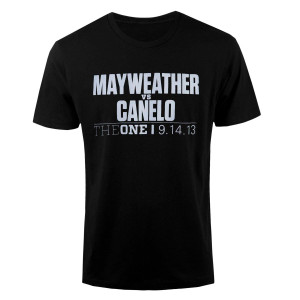 The One: Mayweather vs. Canelo Official Pay-Per-View Logo T-Shirt
