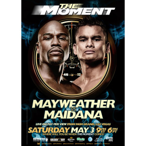 The Moment: Mayweather vs. Maidana Official Pay-Per-View Giclee Print [18x24]