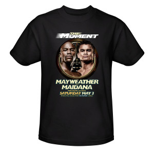 The Moment: Mayweather vs. Maidana Official Pay-Per-View Poster T-Shirt