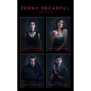 Penny Dreadful Cast Set 1 Magnets [Set of 4]