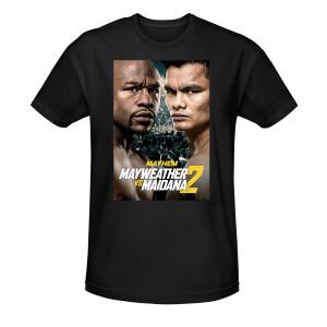 Mayhem Mayweather vs. Maidana 2 Official Poster T-Shirt