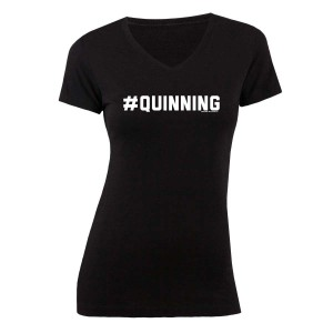 Homeland #Quinning Women's V-Neck T-Shirt
