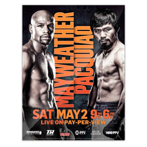 OFFICIAL Mayweather vs Pacquiao Poster Giclee Print [18x24]