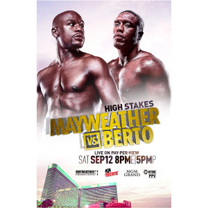 OFFICIAL Mayweather vs Berto Poster [11x17]