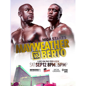 OFFICIAL Mayweather vs Berto Giclee Print [18x24]