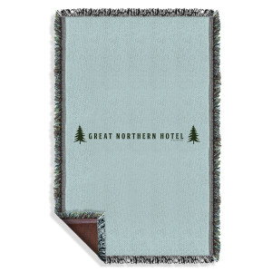 Twin Peaks Great Northern Hotel Woven Throw Blanket