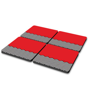Twin Peaks Red Room Coasters (Set of 4)