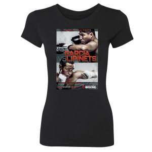 Garcia vs. Lipinets Graphic Women's Slim Fit T-Shirt (Black)
