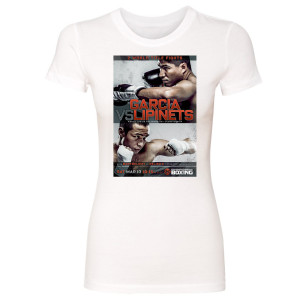 Garcia vs. Lipinets Graphic Women's Slim Fit T-Shirt (White)