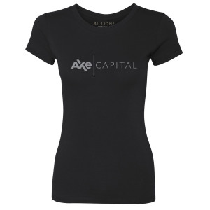 Billions Axe Capital Women's Slim Fit T-Shirt (Black)