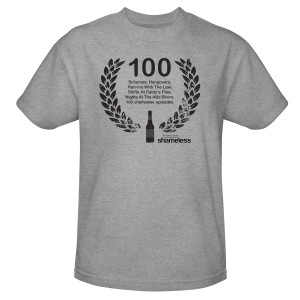 Shameless 100th Episode T-Shirt (Grey)