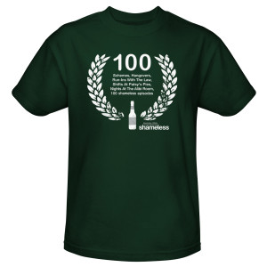 Shameless 100th Episode T-Shirt (Hunter Green)