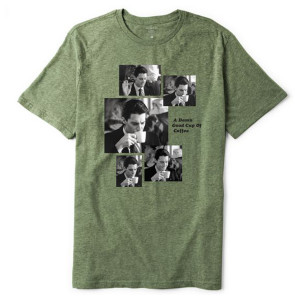 Twin Peaks Coffee Sequence T-Shirt (Olive Heather)