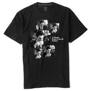 Twin Peaks Coffee Sequence T-Shirt (Black)