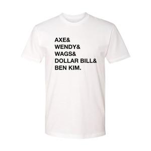 Billions Names T-Shirt (White)